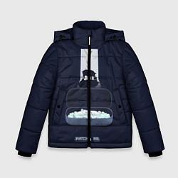 Куртка зимняя для мальчика Чёрное зеркало цвета 3D-черный — фото 1