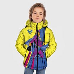 Куртка зимняя для мальчика Superman цвета 3D-черный — фото 2