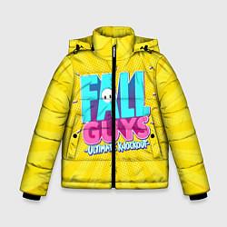 Куртка зимняя для мальчика Fall Guys цвета 3D-черный — фото 1