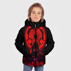 Куртка зимняя для мальчика Итачи Учиха цвета 3D-черный — фото 2