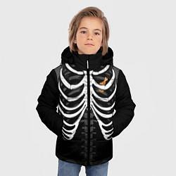 Куртка зимняя для мальчика Курочка в груди цвета 3D-черный — фото 2