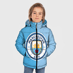 Куртка зимняя для мальчика Манчестер Сити цвета 3D-черный — фото 2