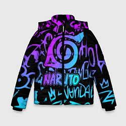 Куртка зимняя для мальчика NARUTO цвета 3D-черный — фото 1