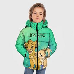 Куртка зимняя для мальчика Юные Симба и Нала цвета 3D-черный — фото 2