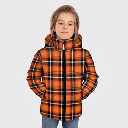 Куртка зимняя для мальчика Шотландская клетка цвета 3D-черный — фото 2