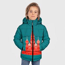 Детская зимняя куртка для мальчика с принтом Москва, цвет: 3D-черный, артикул: 10268434306063 — фото 2