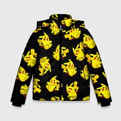 Куртка зимняя для мальчика Веселый пикачу цвета 3D-черный — фото 1