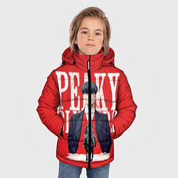 Куртка зимняя для мальчика Острые козырьки цвета 3D-черный — фото 2