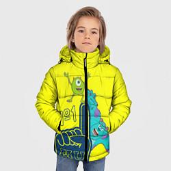 Куртка зимняя для мальчика Monsters цвета 3D-черный — фото 2