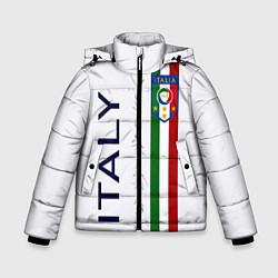 Куртка зимняя для мальчика СБОРНАЯ ИТАЛИИ цвета 3D-черный — фото 1