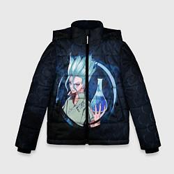 Куртка зимняя для мальчика Dr Stone цвета 3D-черный — фото 1