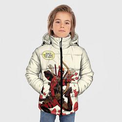 Детская зимняя куртка для мальчика с принтом Deadpool, цвет: 3D-черный, артикул: 10275015906063 — фото 2