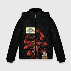 Детская зимняя куртка для мальчика с принтом Deadpool, цвет: 3D-черный, артикул: 10275016506063 — фото 1