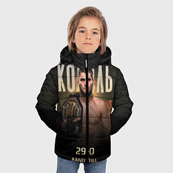 Куртка зимняя для мальчика Хабиб Нурмагомедов - Король цвета 3D-черный — фото 2