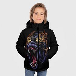 Куртка зимняя для мальчика Горила Рёв цвета 3D-черный — фото 2