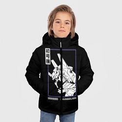 Куртка зимняя для мальчика Юнит-01 цвета 3D-черный — фото 2