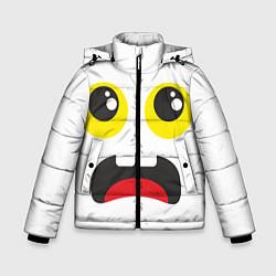Куртка зимняя для мальчика Испуганное лицо цвета 3D-черный — фото 1