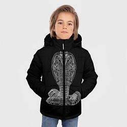 Куртка зимняя для мальчика Змея цвета 3D-черный — фото 2