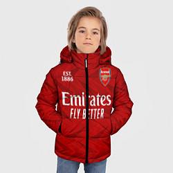 Куртка зимняя для мальчика ARSENAL 2021 - ДОМАШНЯЯ цвета 3D-черный — фото 2