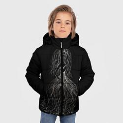 Куртка зимняя для мальчика Девушка - призрак цвета 3D-черный — фото 2