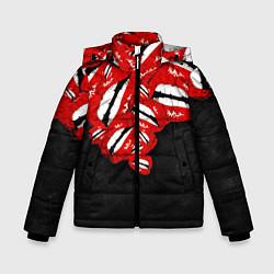 Куртка зимняя для мальчика Губы цвета 3D-черный — фото 1