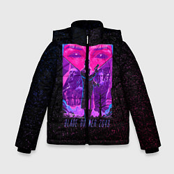 Куртка зимняя для мальчика Бегущий по лезвию цвета 3D-черный — фото 1