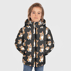 Куртка зимняя для мальчика Корги малыши цвета 3D-черный — фото 2