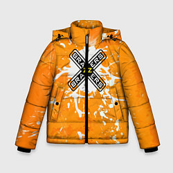 Куртка зимняя для мальчика Brazzers цвета 3D-черный — фото 1