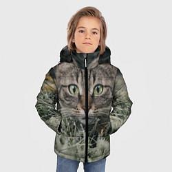 Куртка зимняя для мальчика Кошка цвета 3D-черный — фото 2