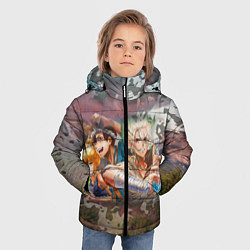 Куртка зимняя для мальчика Доктор Стоун цвета 3D-черный — фото 2