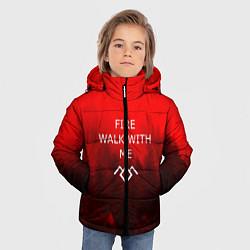 Куртка зимняя для мальчика Twin Peaks цвета 3D-черный — фото 2