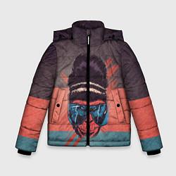 Куртка зимняя для мальчика Горилла цвета 3D-черный — фото 1