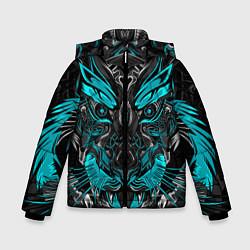 Куртка зимняя для мальчика Абстракция тигр цвета 3D-черный — фото 1