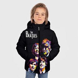 Куртка зимняя для мальчика The Beatles цвета 3D-черный — фото 2