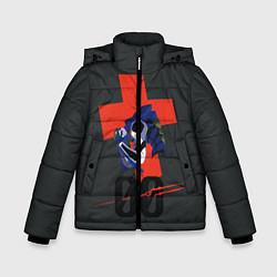 Детская зимняя куртка для мальчика с принтом Евангилион, цвет: 3D-черный, артикул: 10284279506063 — фото 1