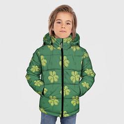 Куртка зимняя для мальчика Узор на День святого Патрика цвета 3D-черный — фото 2