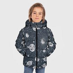Куртка зимняя для мальчика Звезды, планеты и созвездия цвета 3D-черный — фото 2