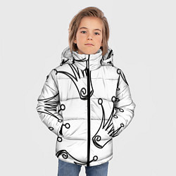 Куртка зимняя для мальчика Короны цвета 3D-черный — фото 2