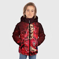 Куртка зимняя для мальчика Cristiano Ronaldo Portugal цвета 3D-черный — фото 2