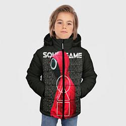 Куртка зимняя для мальчика Сыграй в Кальмара цвета 3D-черный — фото 2