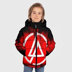Куртка зимняя для мальчика Linkin Park: Red style цвета 3D-черный — фото 2