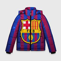 Детская зимняя куртка для мальчика с принтом Barcelona, цвет: 3D-черный, артикул: 10063820306063 — фото 1