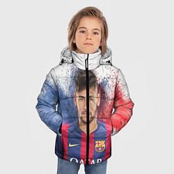 Куртка зимняя для мальчика Neymar FCB цвета 3D-черный — фото 2