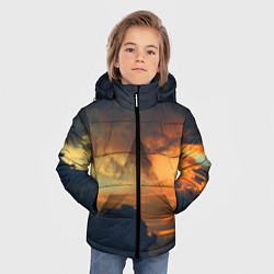 Детская зимняя куртка для мальчика с принтом 30 seconds to mars, цвет: 3D-черный, артикул: 10063910606063 — фото 2