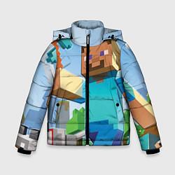 Куртка зимняя для мальчика Minecraft World цвета 3D-черный — фото 1