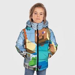 Куртка зимняя для мальчика Minecraft World цвета 3D-черный — фото 2