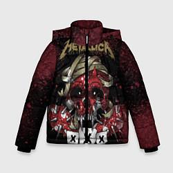 Куртка зимняя для мальчика Metallica: XXX цвета 3D-черный — фото 1