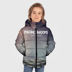 Детская зимняя куртка для мальчика с принтом Imagine Dragons: Night Visions, цвет: 3D-черный, артикул: 10064384306063 — фото 2
