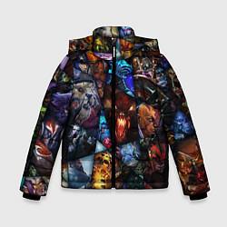 Куртка зимняя для мальчика Dota 2: All Pick цвета 3D-черный — фото 1