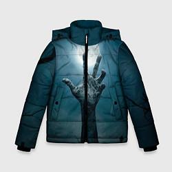 Куртка зимняя для мальчика Рука цвета 3D-черный — фото 1